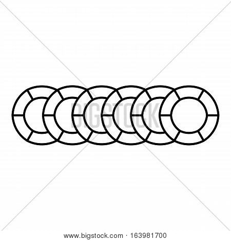 Graph circuit icon. Outline illustration of graph circuit vector icon for web