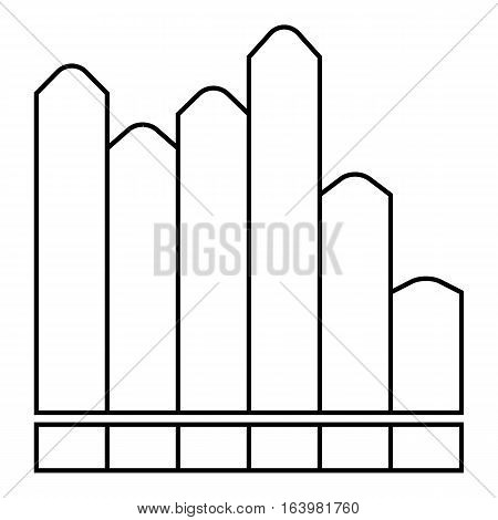 Vertical chart icon. Outline illustration of vertical chart vector icon for web