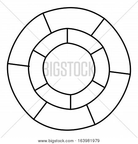 Circle statistics icon. Outline illustration of circle statistics vector icon for web