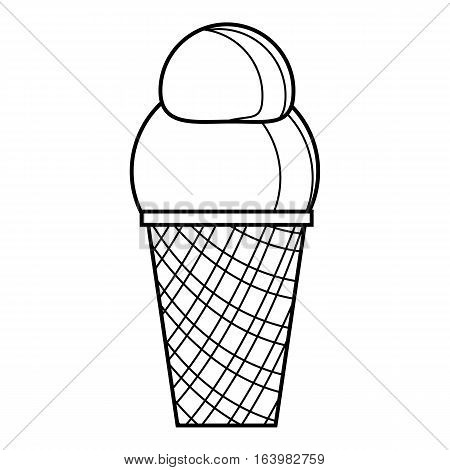 Vanilla ice cream icon. Outline illustration of vanilla ice cream vector icon for web