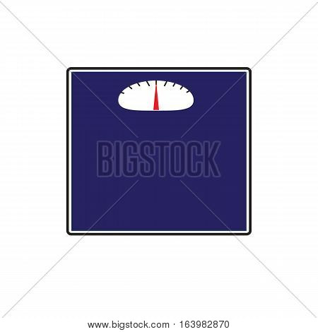 floor scales icon on white background. floor scales sign.