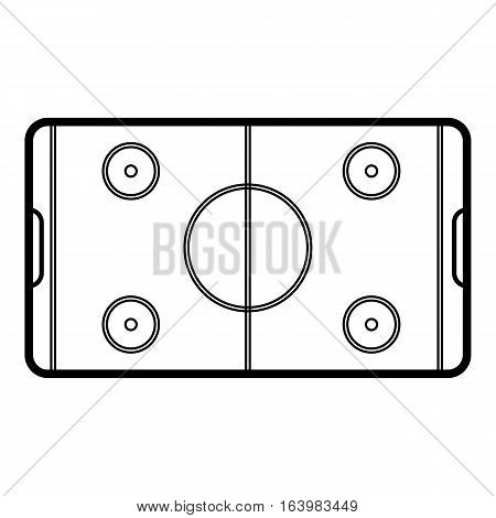 Field hockey icon. Outline illustration of field hockey vector icon for web