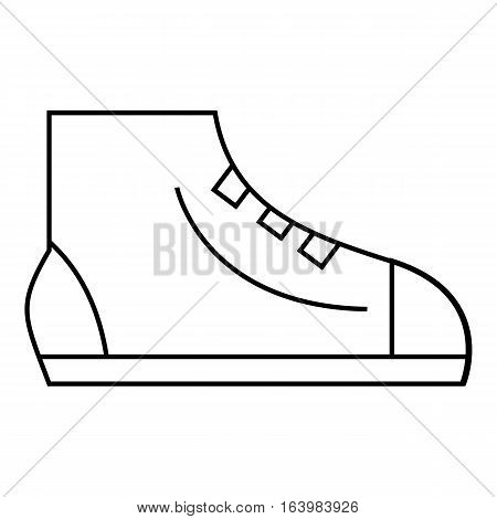 Men sport sneakers icon. Outline illustration of men sport sneakers vector icon for web