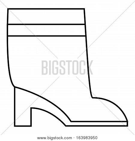 Women boots icon. Outline illustration of women boots vector icon for web
