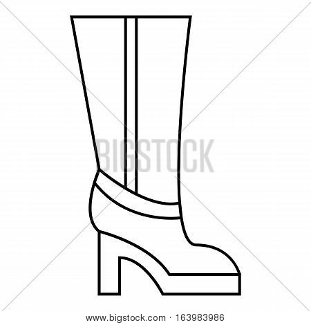 Women boots high heel icon. Outline illustration of women boots high heel vector icon for web
