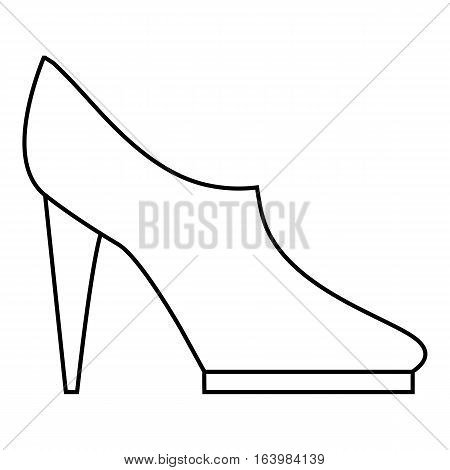 Women high heeled shoes icon. Outline illustration of women high heeled shoes vector icon for web