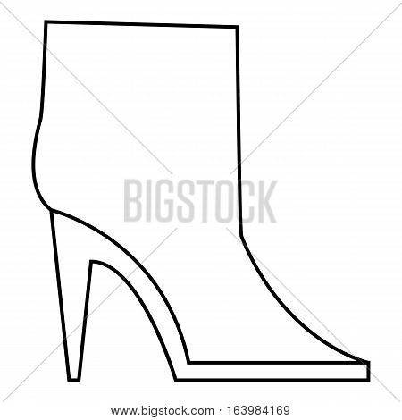 Ankle boots icon. Outline illustration of ankle boots vector icon for web