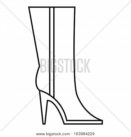 Women winter boots icon. Outline illustration of women winter boots vector icon for web