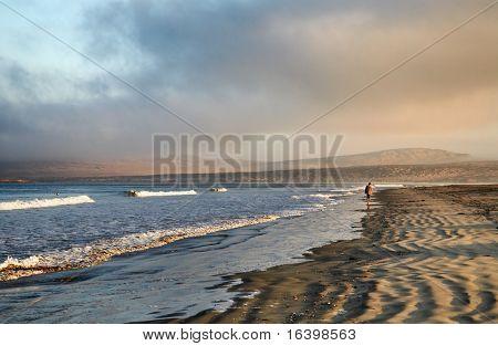 Atlantic coast of Namibia at sunrise