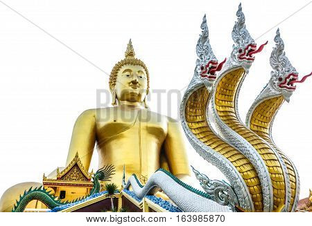 The Biggest Buddha At Wat Muang Angthong In Thailand