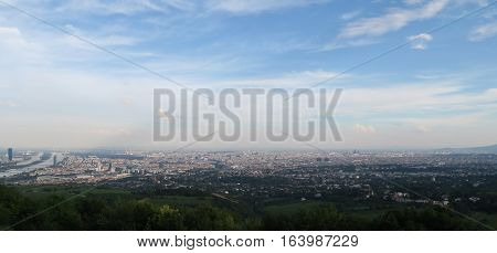Great View from Kahlenberg at Austrians Capital Vienna