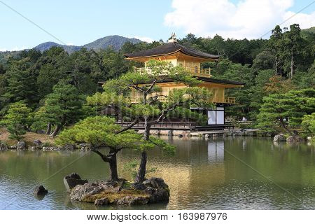 The magnificent Golden Pavilion in Kyoto, Japan