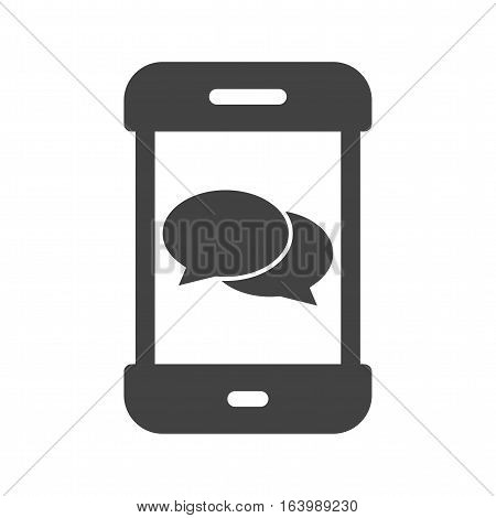 Message, conversation, app icon vector image. Can also be used for smartphone. Suitable for mobile apps, web apps and print media.
