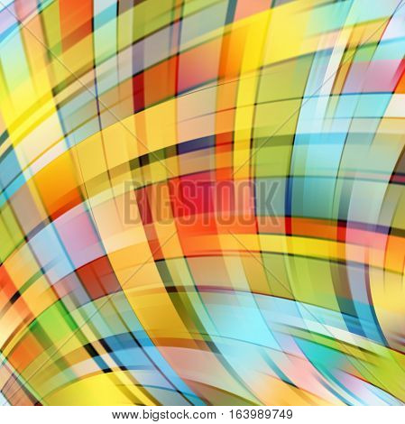 Abstract colorful background with swirl waves. Abstract background design. Eps 10 vector illustration. Yellow, red, blue, green colors