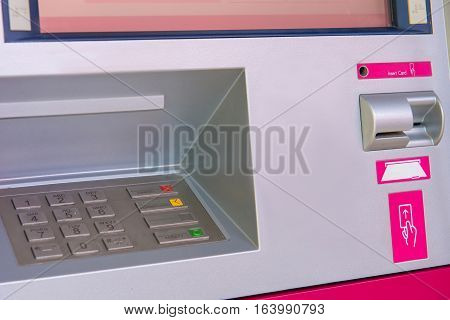 Atm Bank Cash Machine Built Into Wall