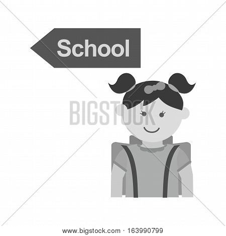 School, going, kids icon vector image. Can also be used for kids. Suitable for use on web apps, mobile apps and print media.