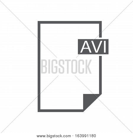 Flat icon avi video on white background. avi video sign.