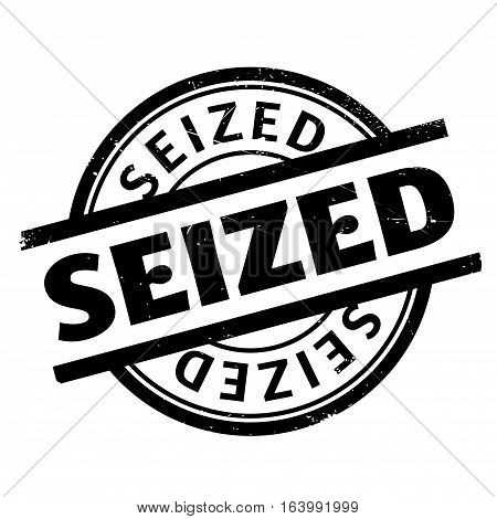 Seized rubber stamp. Grunge design with dust scratches. Effects can be easily removed for a clean, crisp look. Color is easily changed.
