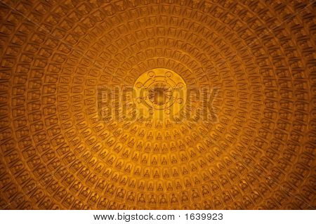 Golden Roof Of A Chinese Buddhism Temple