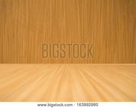 Vintage curved brown empty wood plank background.