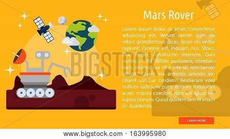 Mars Rover Conceptual Banner | Great flat illustration concept icon and use for space, universe, galaxy, astrology and much more.