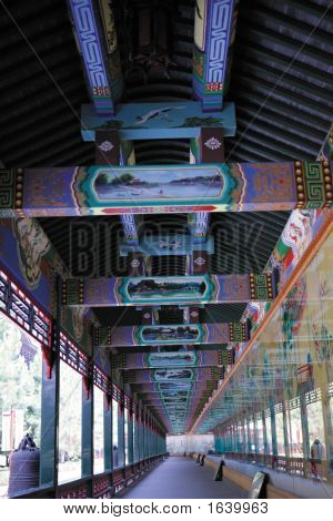Crossbeam Of Chinese Buddhism Temple