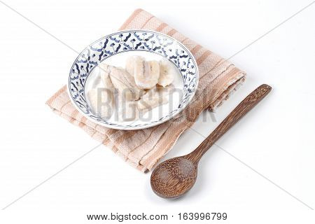 Ready Served Cultivated Banana In Coconut Milk .