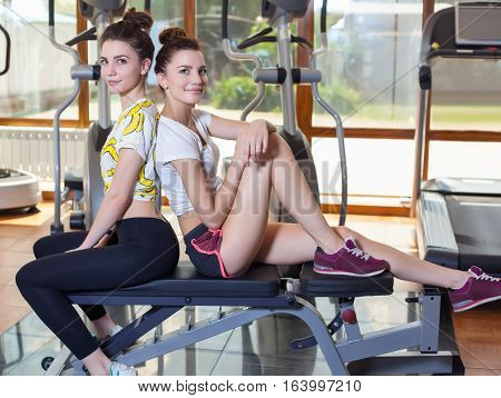 Two twins to play sports in the gym healthy lifestyle