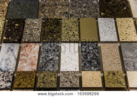 Marble kitchen and bathroom countertop stone samples
