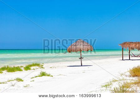 Isla Holbox on a clear blue sky day in Mexico