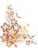 floral corner. watercolor background poster