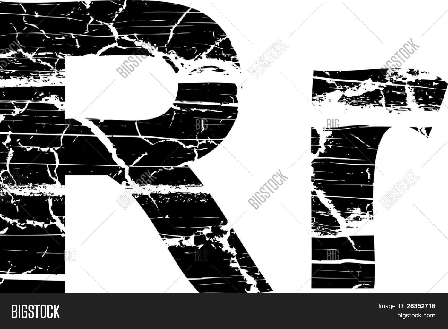 Cracked Letter Vector Photo Free Trial Bigstock