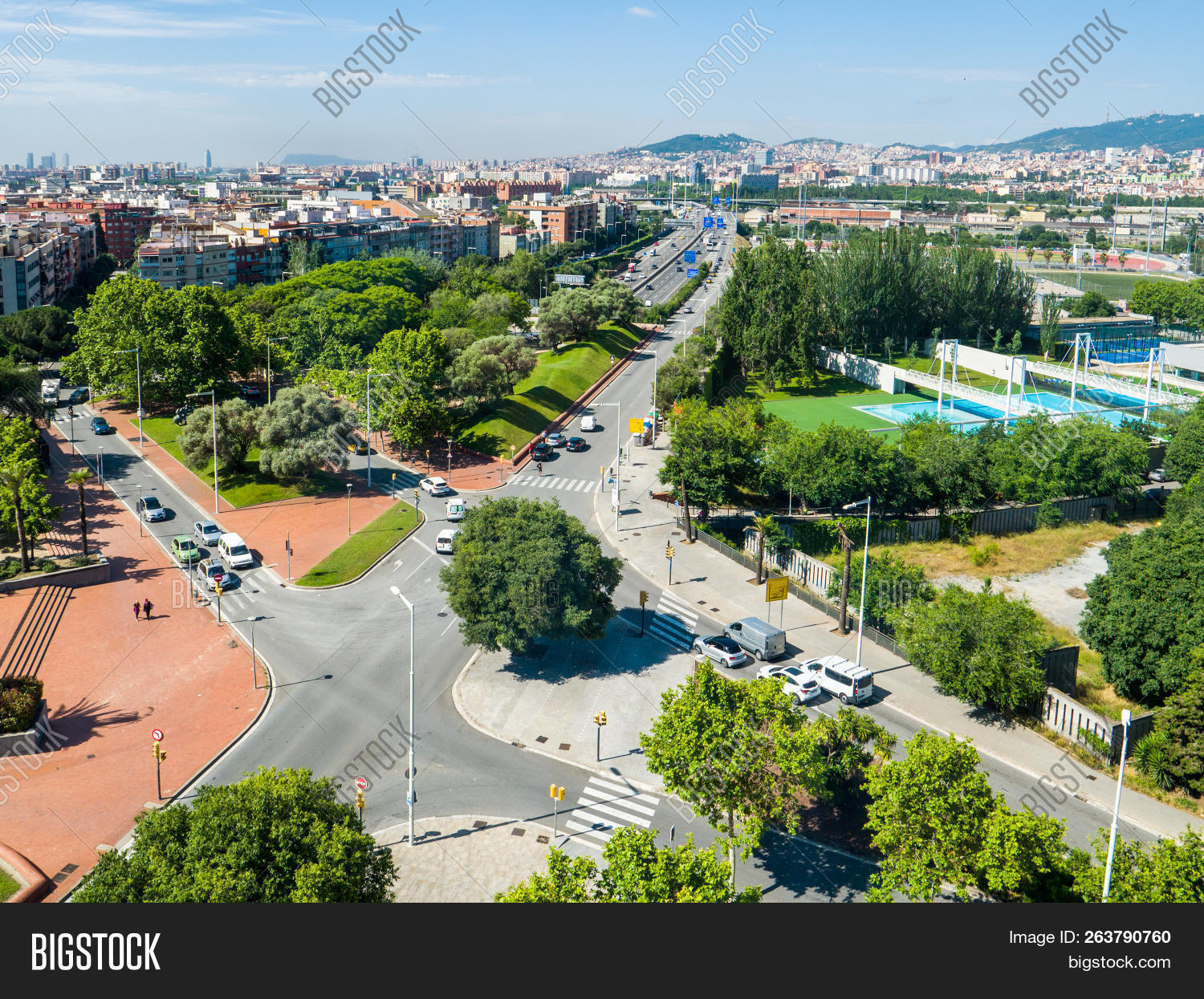 Aerial View Barcelona Image Photo Free Trial Bigstock