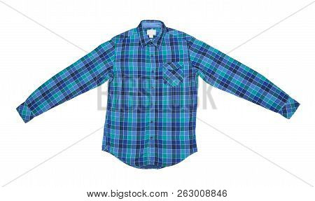 Top View Of Shirt Isolated On White Background