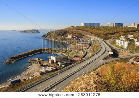 Autumn Landscape Of Vladivostok. Russia. Nature Of Vladivostok.