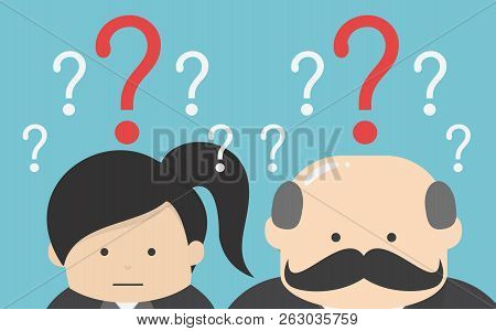 Businessman Confused , Eps10 Vector Format, Flat Design, Question