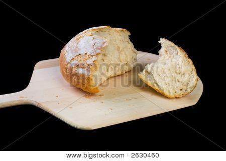 Crusty Italian Bread On Peel