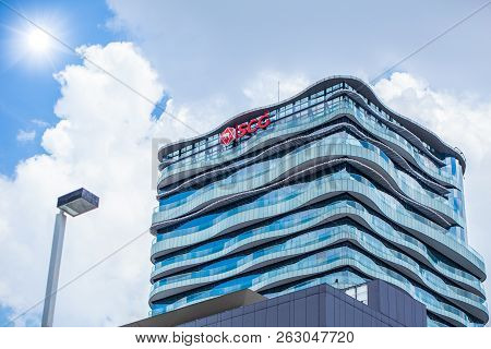The Siam Cement Group (scg) Office Building At Bang Sue Scg Is The Largest Cement Company In Thailan