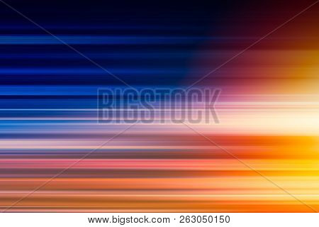 Horizontal Blur Fast Speed Accelerate High Perform Light Blast For Technology Abstract For Backgroun