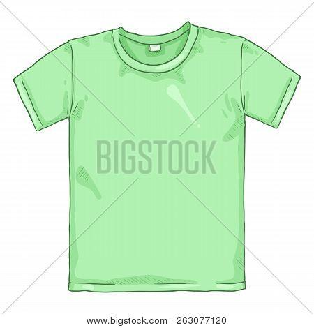 Vector Single Cartoon Illustration - Light Green T-shirt