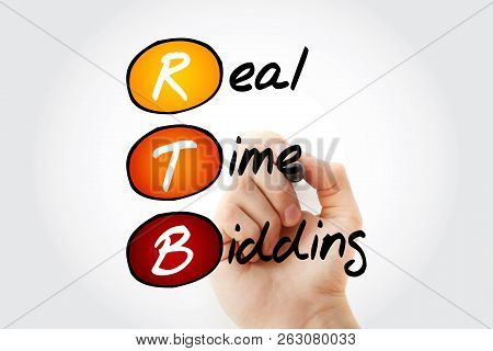 Rtb - Real-time Bidding, Acronym Business Concept Background