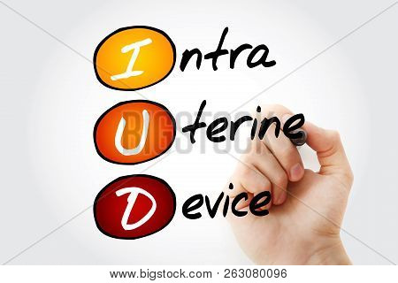 Iud - Intra Uterine Device, Acronym Health Concept Background
