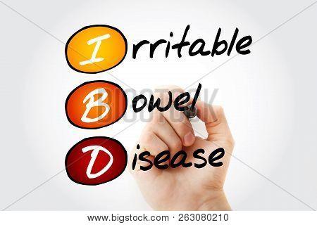 IBD - Inflammatory Bowel Disease, acronym health concept background poster