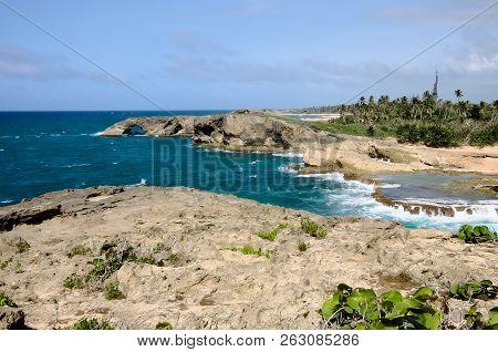 Rocky Shoreline And Landscape Of Punta Las Tunas
