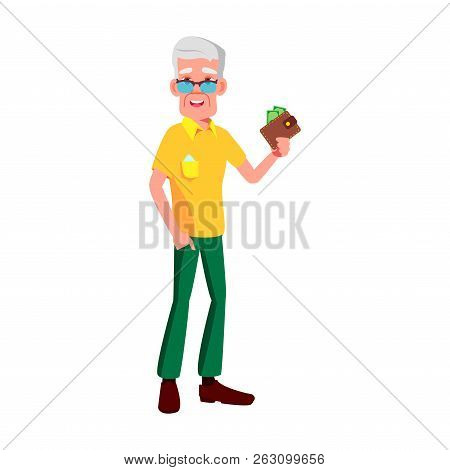 Old Man Poses Vector. Elderly People. Senior Person. Aged. Comic