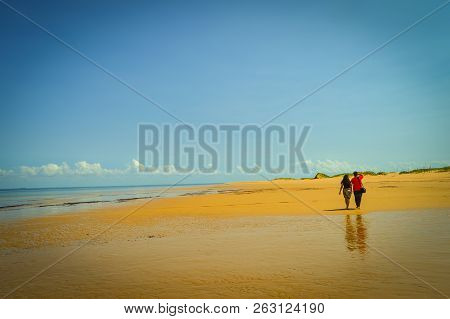 Beautiful Portuguese Island Beach With Turqoise Water , Mozambique. Best Place To Feel Relaxed And E