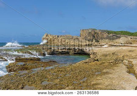 Cliffs Tidal Pools And Rock Ledges Of Punta Las Tunas