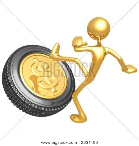 Kicking The Gold Dollar Tire