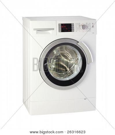 Moderne Waschmaschine mit Beschneidungspfad