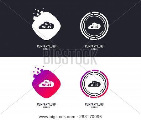 Logotype Concept. Free Wifi Sign. Wifi Symbol. Wireless Network Icon. Wifi Zone. Logo Design. Colorf